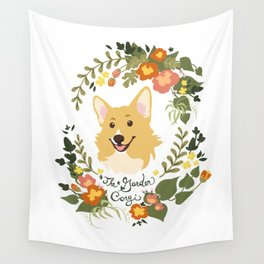 The Garden Corgi  Wall Tapestry