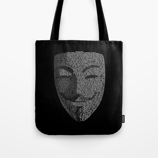...You May Call Me 'V' – So who's Anonymous? Tote Bag