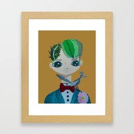 ~ Cactus Hair Jude & Roadrunner ~ 10 year old Artist Amelia Milly Moo Framed Art Print