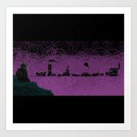 Unitrack Presents the Impossible City: '81 Series Art Print