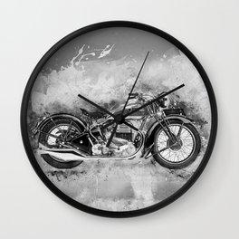 Vintage Motorcycle No2 Wall Clock