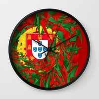 portugal Wall Clocks featuring Portugal by Danny Ivan
