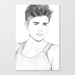 Justin Biebs - Word Art Canvas Print