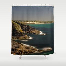 Trevose Head to Constantine Bay, Cornwall, UK Shower Curtain