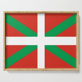 Flag of Euskal Herria-Basque,Pays basque,Vasconia,pais vasco,Bayonne,Dax,Navarre,Bilbao,Pelote,spain Serving Tray