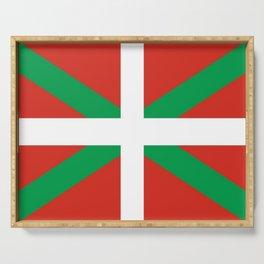 Flag of Euskal Herria-Basque,Pays basque,Vasconia,pais vasco,Bayonne,Dax,Navarre,Bilbao,Pelote,spain Serving Tray