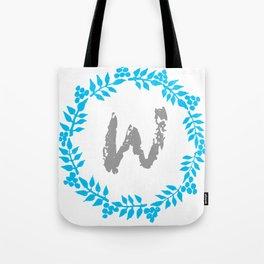 W White Tote Bag