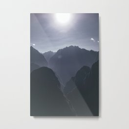 Subdued Mountains (Color) Metal Print