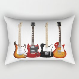 Four Electric Guitars Rectangular Pillow