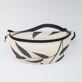 pastel square - black branch - ruscus Fanny Pack