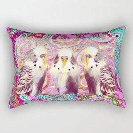 3 Paisley Budgies Rectangular Pillow