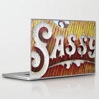 sassy Laptop & iPad Skins featuring Sassy by papayas