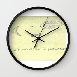 Reciprocal Anchovy Wall Clock