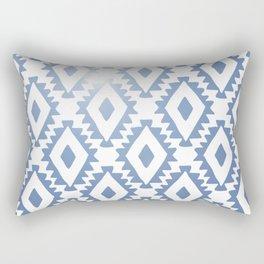 Aztec geometrics - chambray Rectangular Pillow
