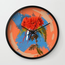 There is a Season, Floral Abstract Art Wall Clock