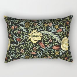 William Morris Gardens Thistle Heads Rectangular Pillow