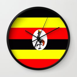 Flag of Uganda Wall Clock
