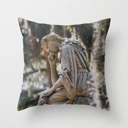Bonaventure Cemetery - Statue of Eliza Wilhelmina Theus II Throw Pillow