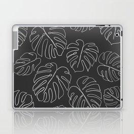 black leaf monstera Laptop & iPad Skin