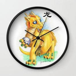Chinese Zodiac Year of the Dragon Wall Clock