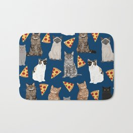 Cats pizza slices food cat lover pet gifts must have cat breeds Bath Mat