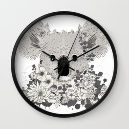 Koala bear with flowers and eucalyptus Wall Clock