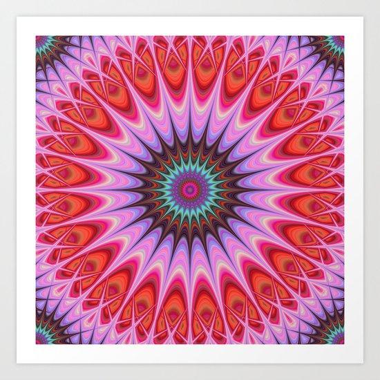 Quadrant mandala Art Print