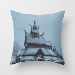 Borgund Stav Kirke IIII Throw Pillow