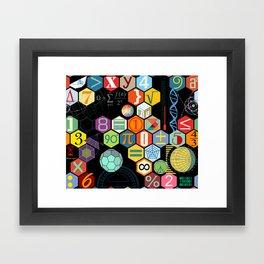 Math in color Black B Framed Art Print