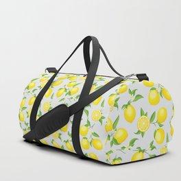 You're the Zest - Lemons on White Duffle Bag