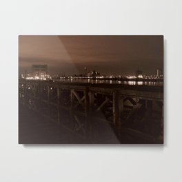 Thames Crossing - Woolwich Ferry Metal Print