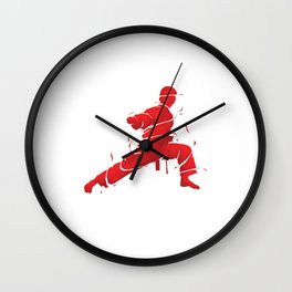 Eat Sleep Karate Repeat Fighter Martial Arts Kendo Taekwando Combat Sports Gift Wall Clock