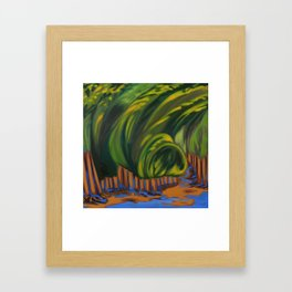 A Rainy and Windy Day Framed Art Print