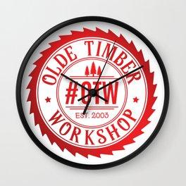 Olde Timber Workshop Wall Clock
