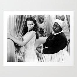 Vivien Leigh as Scarlett O'Hara Portrait Art Print