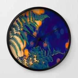 Farn im Abendlicht Wall Clock