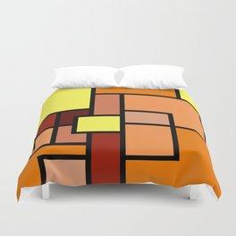 The Colors of / Mondrian Series - Lion King  Duvet Cover