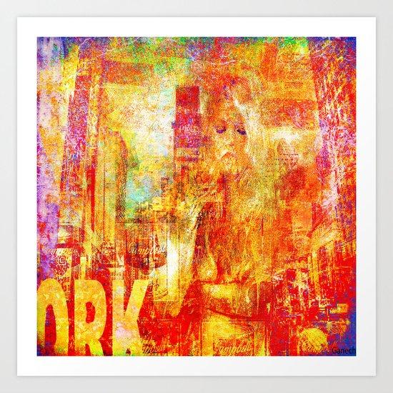 Girl in New-York  Art Print