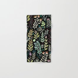 Dark Botanic Hand & Bath Towel