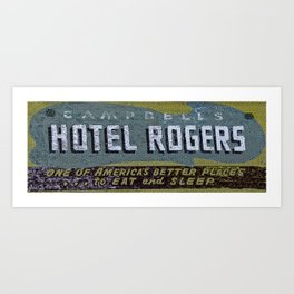 Idaho Falls - Vintage Hotel Rogers Better Place To Eat And Sleep Art Print