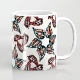Boho leaves vector all over print Coffee Mug