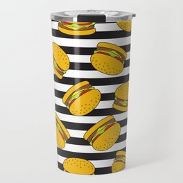 Burger Stripes By Everett Co Travel Mug