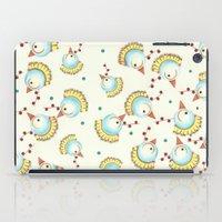 chicken iPad Cases featuring Chicken by Natalia Burgos