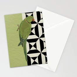 Parrot Checkers Stationery Cards