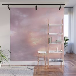Pink Sunset Explosion Puffy Clouds Skyscape Photography Wall Mural