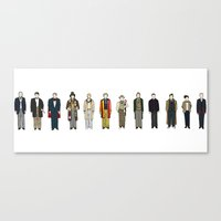 dr who Canvas Prints featuring Dr Who by Michael Constantine