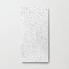 Dotted White & Black Metal Print