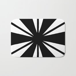 Black and White Bam Bath Mat