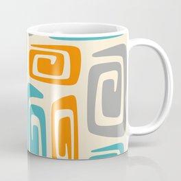 Mid Century Modern Cosmic Abstract 740 Orange Blue and Gray Coffee Mug