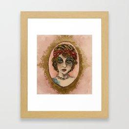 Miss Anchor Framed Art Print